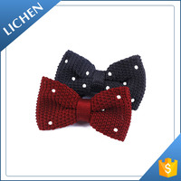 Custom made Hot saled Knit Formal flashing bow tie