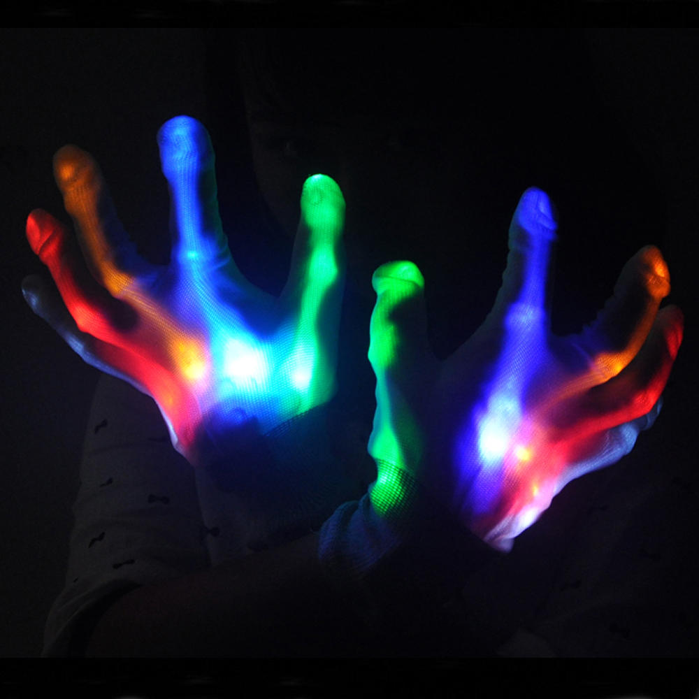 Cotton Material Party Led Flashing Gloves