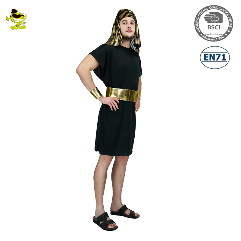 A Adult Black Pharaoh Costume Deluxe Egyptian Cosplay Costume A0042