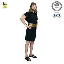 Adult Black Pharaoh Costume Deluxe Egyptian Cosplay Costume A0042