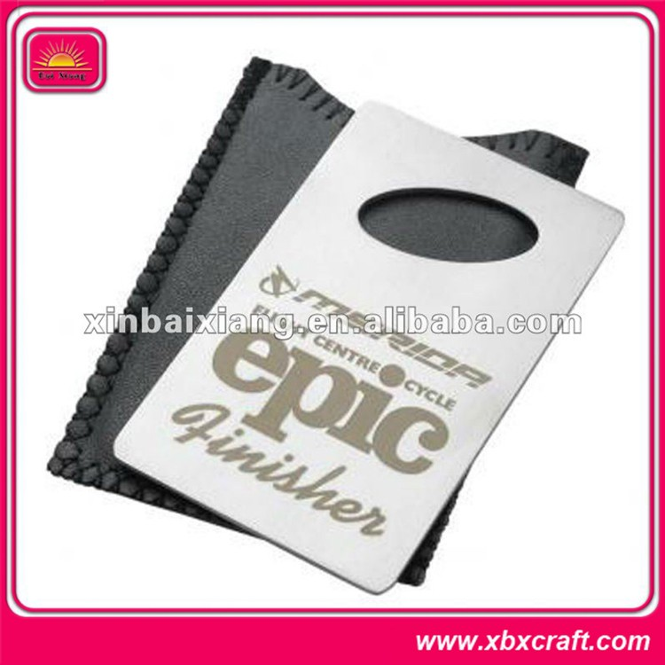 Fashion custom laser stainless steel credit card bottle opener
