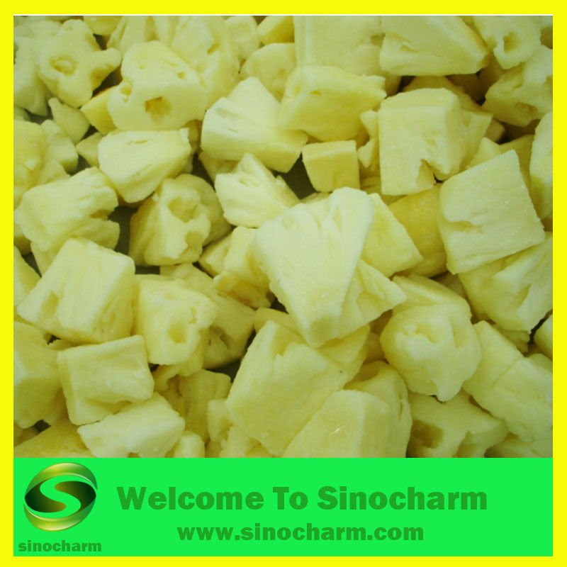 Frozen IQF Pineapple Cut/Diced/Chunk/Tidbit
