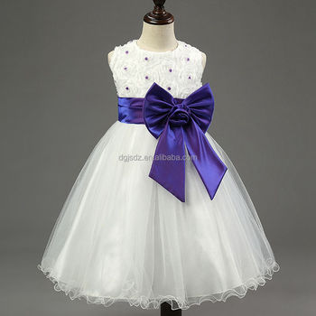 Foreign Trade Korean girl princess dress flower wedding dress large bow flowers flower child skirt