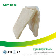 Block shape chewing gum material base for chewing gum