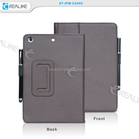 built-in stylus pen holder cover for ipad mini,leather cover for ipad mini