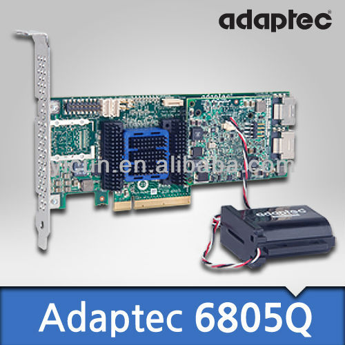 Adaptec SAS+SATA 6Gb ASR-6805Q Single 2270700-R PCI-Express-x8-v2.0; 8-Channel RAID-0/1/5/6 + maxCache 2.0 SSD Write Caching