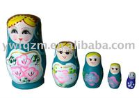 wooden russia craft nesting doll