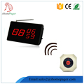 Casual fine dining fast food restaurant equipment wireless call system with english voice receiver
