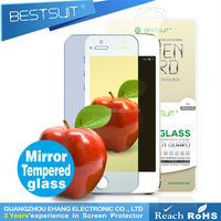 OEM anti-scratch anti-glare mirror tempered glass screen protector for iphone5c