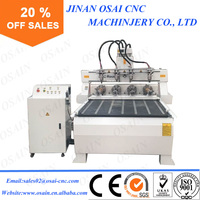 Wood 4 Axis CNC Router 1325 , 4th axis rotary machine , 3D Sculpture CNC Router For Sale