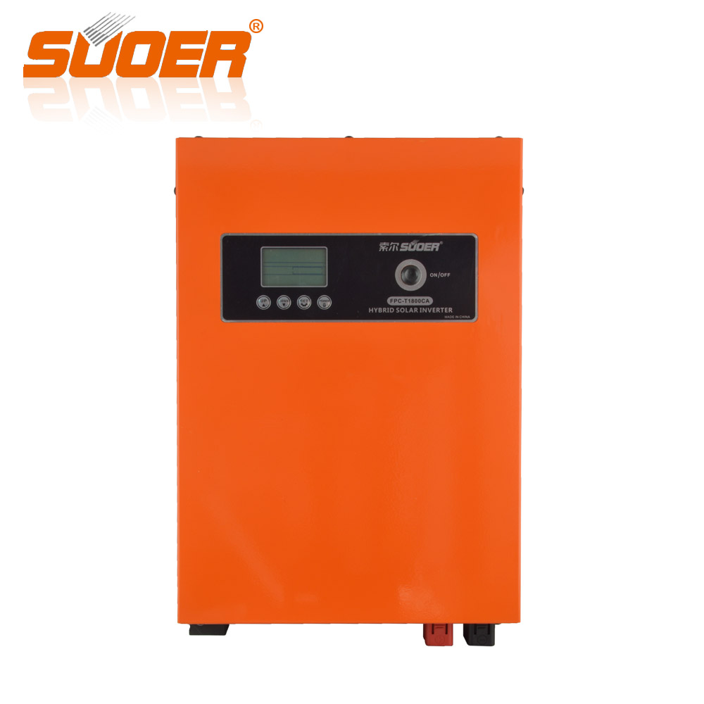 Suoer 12V 230V 800W Hybrid Solar AC DC Off Grid Frequency Solar Grid inverter Pure Sine Wave Inverter With Charger