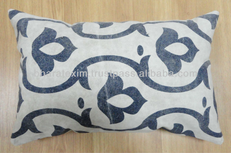 Recycle Canvas Screen Printed Cushion Cover Size: 30 x 50 Cms