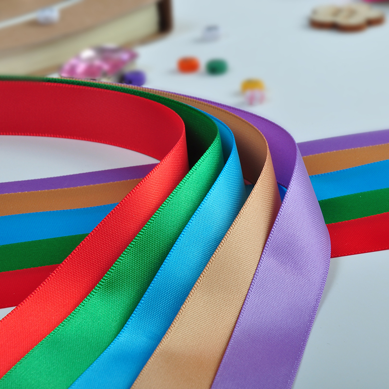 Yama wholesale 100% polyester solid color custom printed grosgrain ribbon