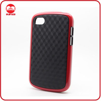 Red Cubism Thin Slimline TPU Gel Tough Case for Blackberry Q10
