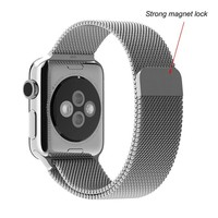 Hot Selling TOTU Strong Magnet Lock Watch Band For Apple Watch,Milanese Magnetic Steel Watch Straps For Apple 42mm
