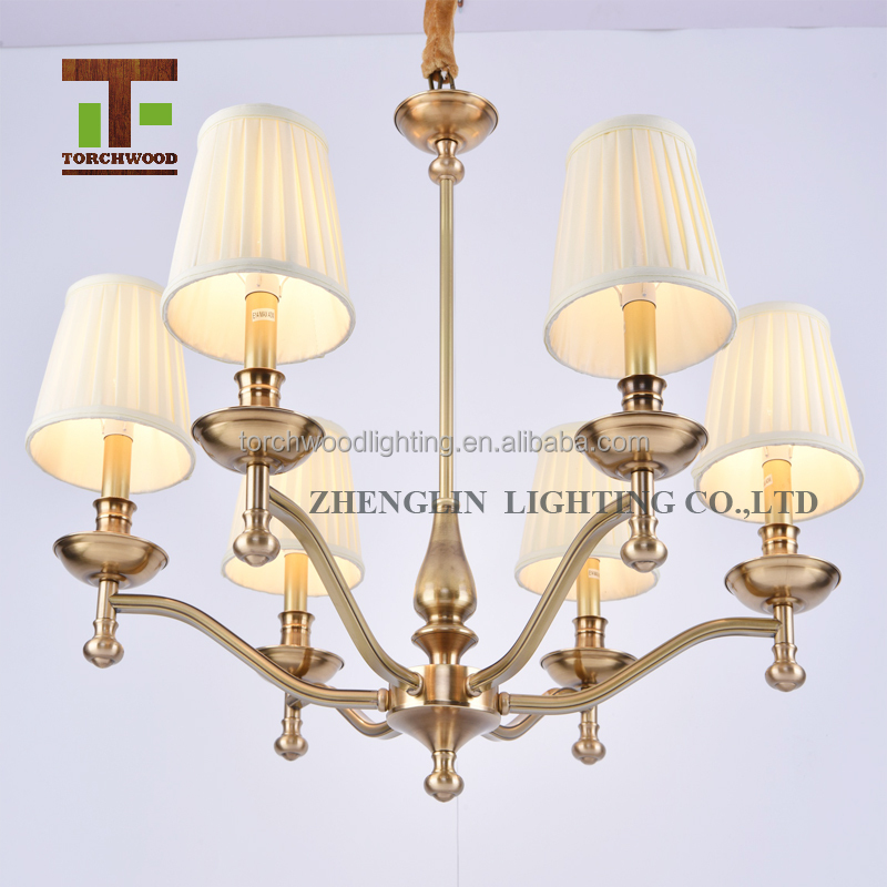 Modern lighting malaysia philippines fabric chandelier for hotel bedroom