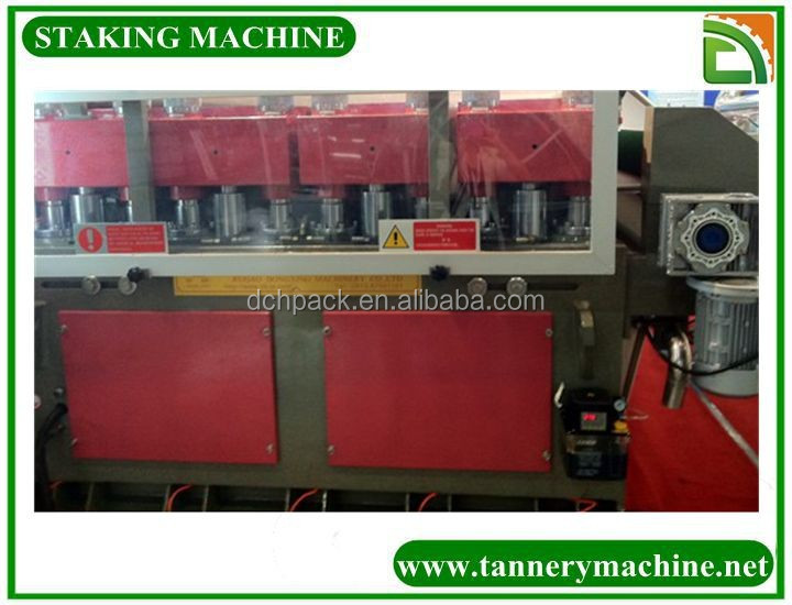 china animal skin processing machine hide staking machine