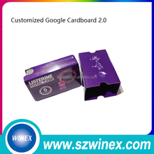 "Customize logo Google cardboard version 2.0 Google Cardboard 2 virtual reality vr box 3d glasse 3D glasses for 3.5-6"" phone Rift"