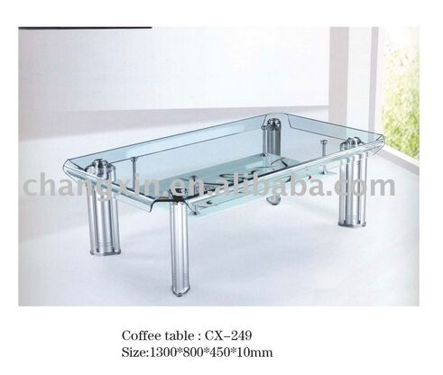 antique modern design end table, bent glass coffee table, coffee table