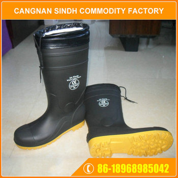 Professional Impact Resistant PVC Chemical Tamp Resistance Safety Boot