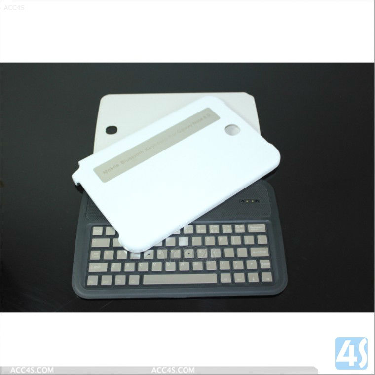 2013 Wholesale Detachable Wireless Bluetooth keyboard Case for Samsung Galaxy Note 8.0 N5100 Aluminum Keys --P-SAMNOTE80CASE032