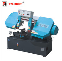 TARWIT export to Pakistan high quality China factory price manual feeding band sawing machine for high mix low volume cutting