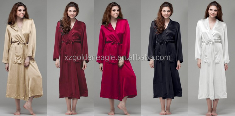 2017 silk robes for women plus size
