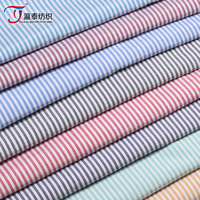2015 new shirt fabric cotton candy color spot stripes fabric yarn Stripe Shirt
