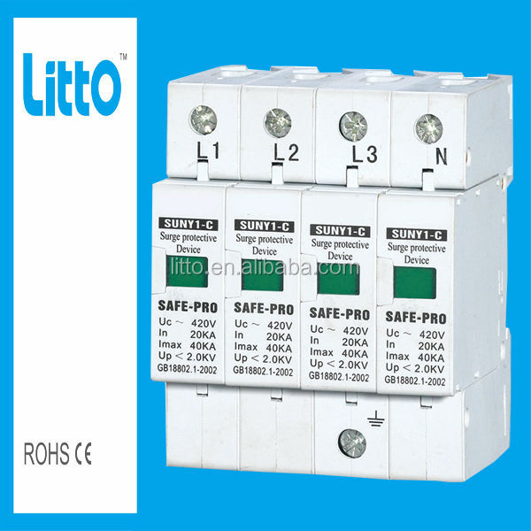 Newly Designed 25kA PV Modular Power Surge Protector(spd)/Lightning Arrester