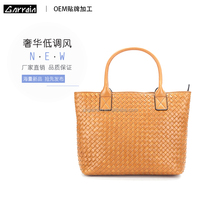 Shanghai Factory new fashion genuine stylish leather handbag / leather bags women shoulder bag/ genuine leather tote bag