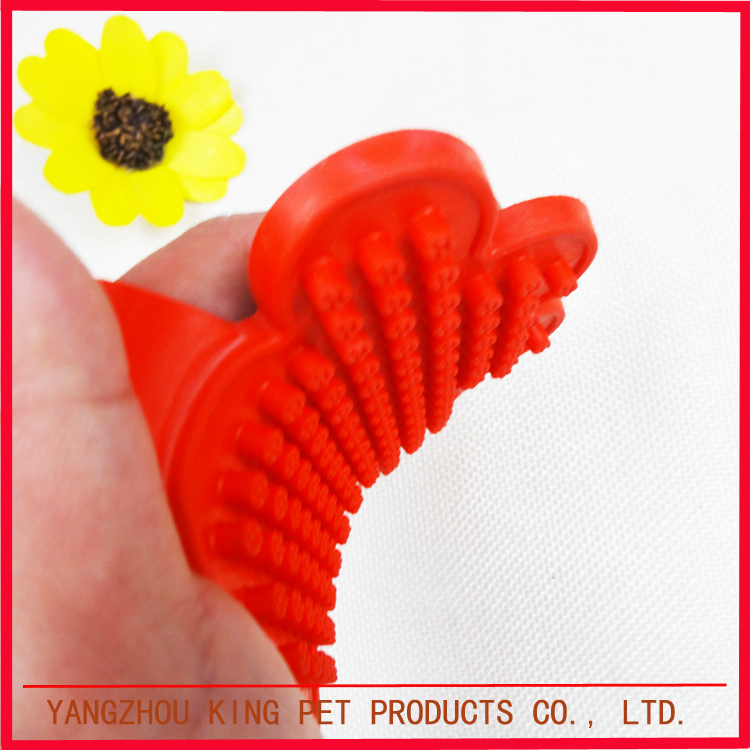 TPR rubber handle gloves dog hair wash silicone pet brush