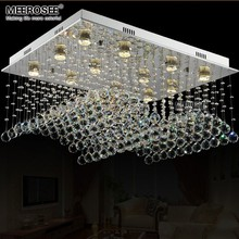 Top K9 Crystal Chandeliers Lustre de Crystal Rain Drop Mounted Lamps Dining Room Hotel Lamp Light Fixtures luminaire MD81754-L12