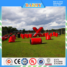 Inflatable paintball design , red paintball obstacles for kids and adult