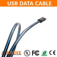 AiLINE Quick Charge EL Wire Flat USB Lighting Cable for All Cell Phones