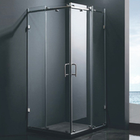 HS-SR845 simple glass 80x80 italian shower enclosure pivot door