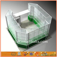 Shanghai OEM new design aluminum and glass display cabinets display racks stands rack display shelf