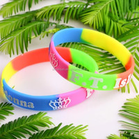 K-POP F.T. Island Swirled wristband silicone bracelets rubber wrist bands cuff bangle free shipping by FEDEX express