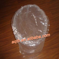 transparent LDPE round bottom chemical resistant bag