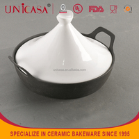 UNICASA Cookware Best Quality Ceramic Tagine White Color With handle
