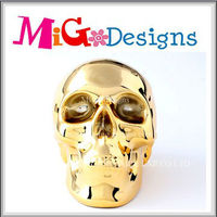 Wholesale Decor Gift Art Skull Shaped Money Box