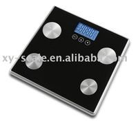 Digital body fat scale with fat, water, muscle, bone measurement