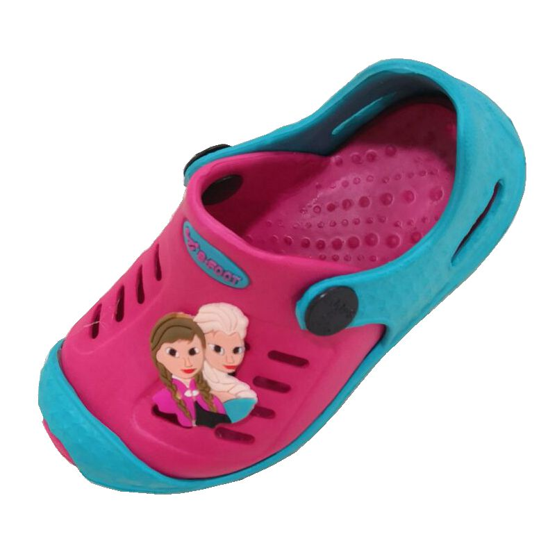 Wholesale EVA Clogs Shoes Kids Foam Clogs Two Colors Children's Garden Clogs Shoes Sandals Size 24-29#