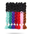 Ombre color ultra braid premium quality 82inch 100gr small order available jumbo braids