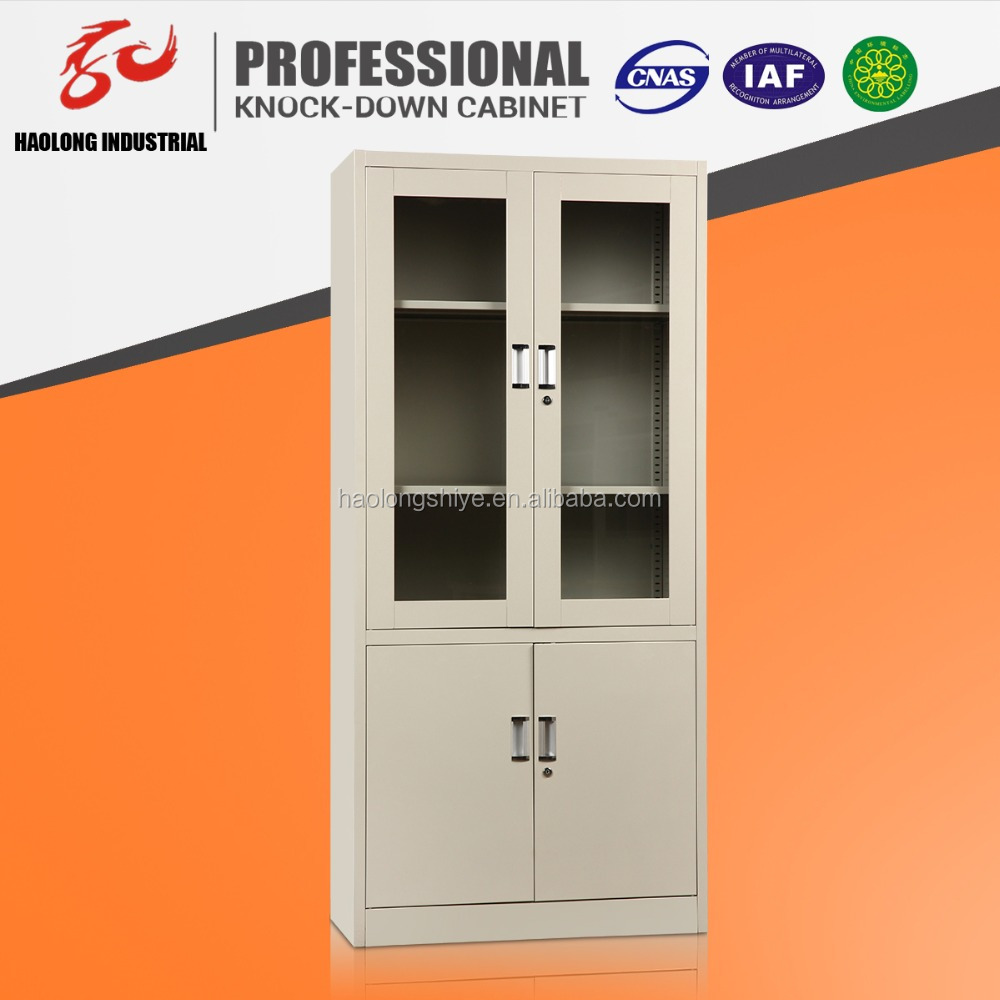 Pratical Office Used up Glass Display Steel pantry Filling Cabinet