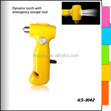 Affordable price custom printed simple style led touch light with emergency hammer car light