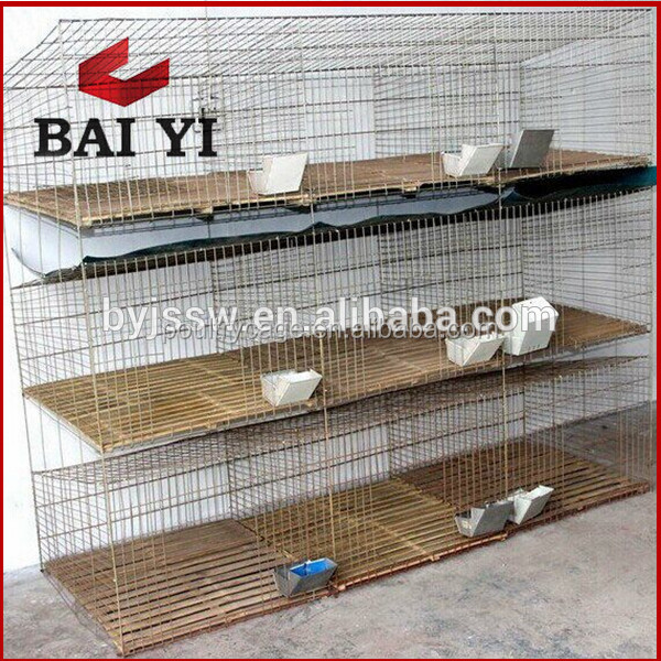 Industrial cages for rabbits