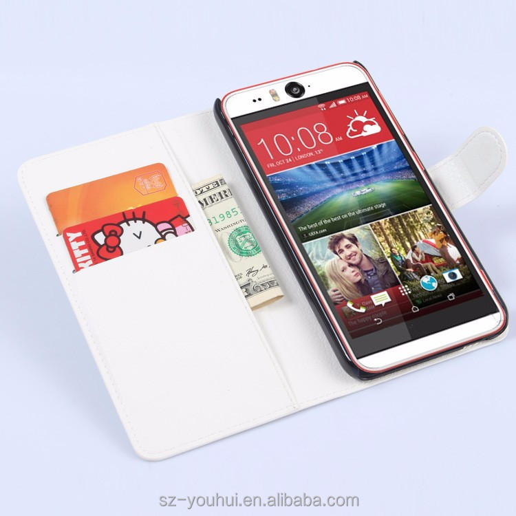 Latest Design wallet leather case for HTC desire eye