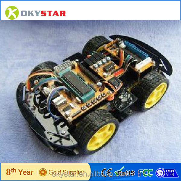4WD drive smart car kit/rc car