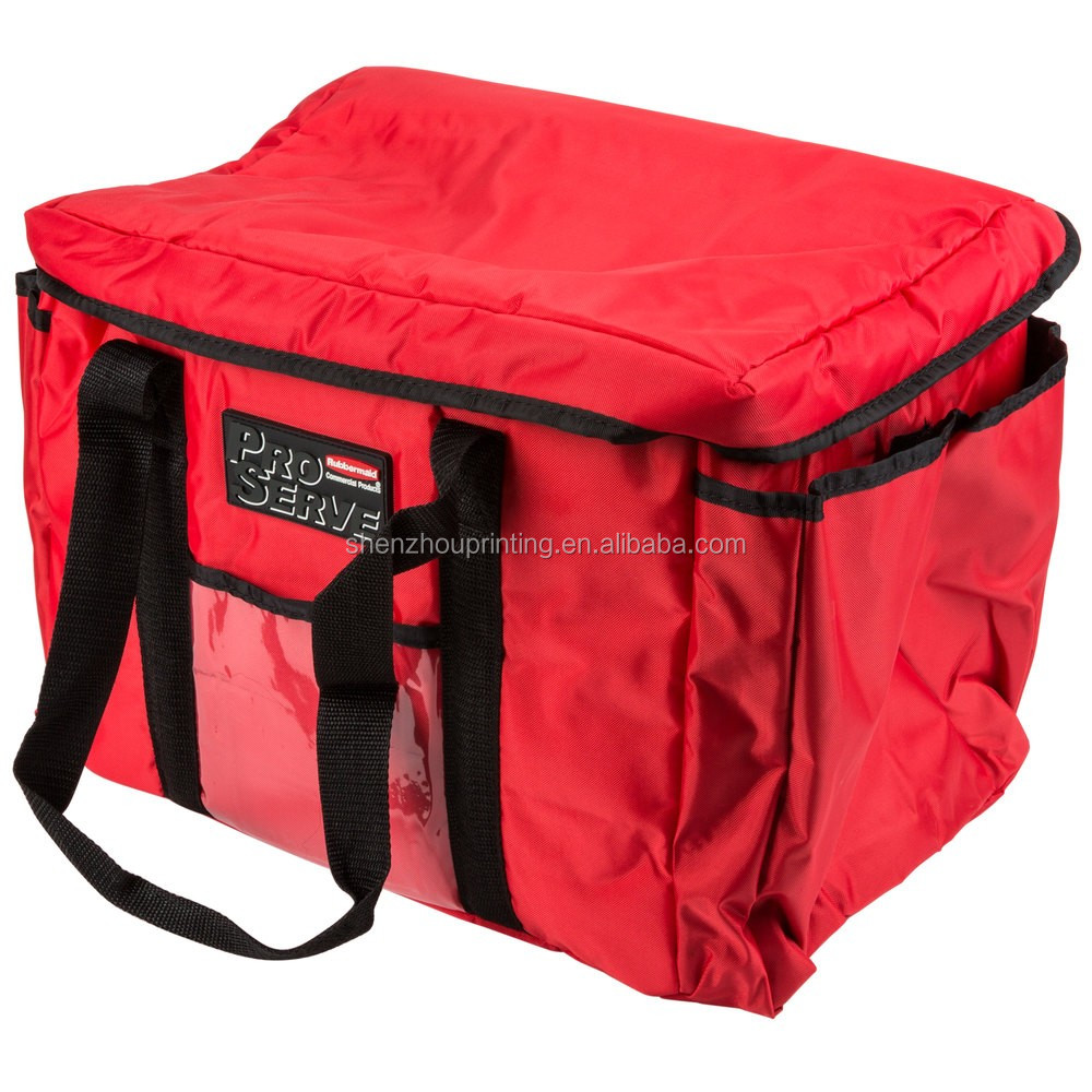 OEM promotional custom printing 15 x 12 x 12 red soft sided portable hot and cold insulated cooler bags bulk