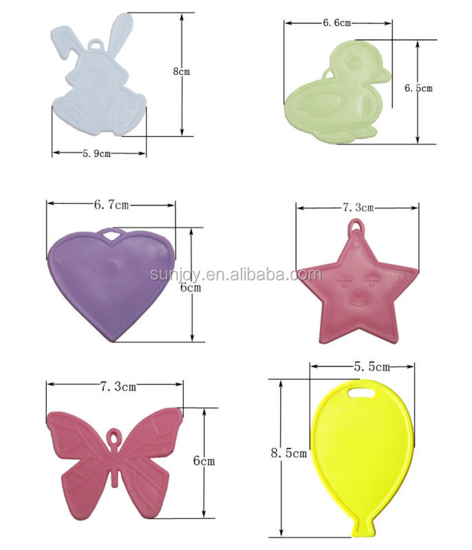 Balloon Shaped Plastic Balloon Weights - Many Colours Available